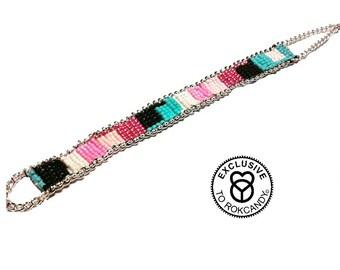 Wovenbracelet,silverbracelets,  rokcandybracelet, giftsforher, rokcandy, loombracelet, bohobracelet,  nativeamericanbracelets, Lovebracelet