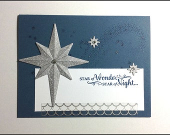 Star of Wonder - Christmas Winter Holidays Handmade card