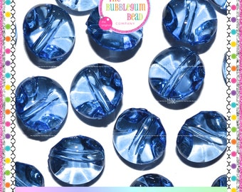 13mm CORNFLOWER BLUE TRANSPARENT Buttons, Sewing Notions, Buttons, Half Round Buttons, Whimsical Buttons, Craft Buttons, Craft Supplies