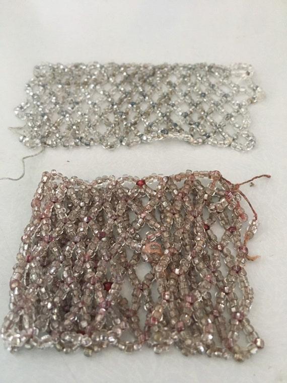 2x Art Deco glass bead pieces
