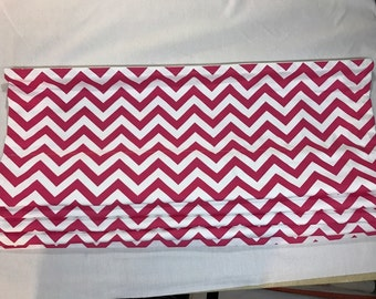 Clearance Roman Shade in Premier Prints Zig Zag Candy Pink