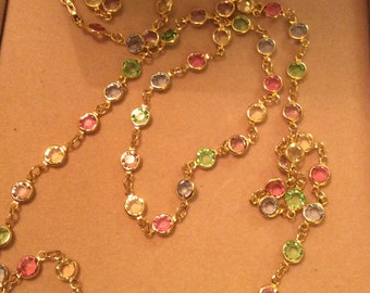 Necklace Austria Crystals colors made in USA