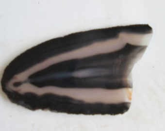 Large Black and White Brazil Agate Slab Wire Wrap Cutting Material