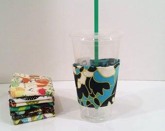 Eco-Friendly Coffee/Tea Sleeve - Amy Butler Lark