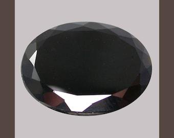 METEORITE / Tektite (33780) * * * *  Exotic! Oval - 10.8 x 8.3mm Black / Dark Brown Tektite - Laos Mine - From Space and Back!