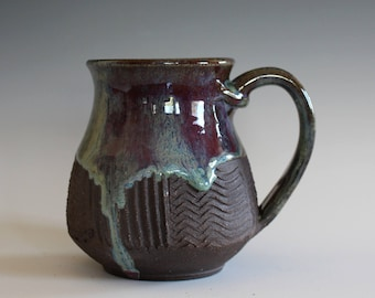 Unique Coffee Mug, 14 oz, handmade ceramic cup, handthrown mug, ceramic stoneware, pottery mug, unique coffee mug, ceramics and pottery