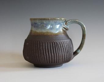 Coffee Mug Pottery, 17 oz, unique coffee mug, handmade ceramic cup, handthrown mug, stoneware mug, pottery mug, ceramics and pottery