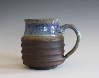 Pottery Coffee Mug, 14 oz, unique coffee mug, ceramic cup, handthrown mug, stoneware mug, pottery mug, ceramics and pottery