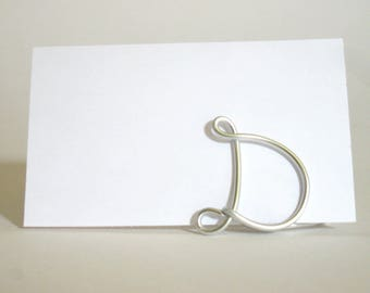 Initial Letter Place Card Holders -  SET OF 13 in Copper - for Weddings, Anniversaries