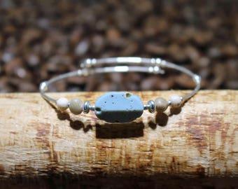 Leland Blue Memory Wire Bracelet