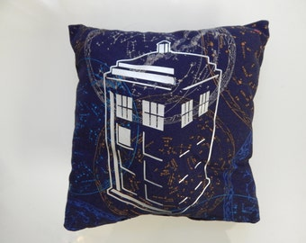 Tardis Pillow-Silver or Blue