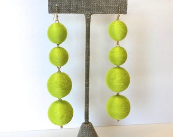 Bon Drop Earrings // Solid Color 4 tier with a hook // Multiple Color Options // Choose your Color