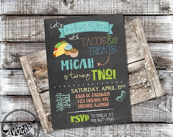 Tacos and Treats - Birthday (or any event) invitation - DIY Printing or Professional Prints