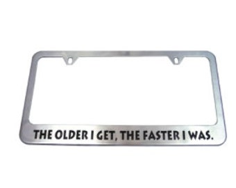 Laser Engraved License Plate Frame Personalized with Your Message