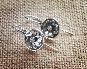 Sterling Wildflower Earrings