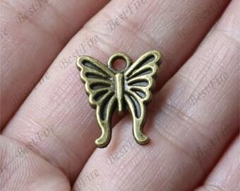 20 pcs Charms butterfly Pendant Antique bronze Tone, butterfly Pendant Charms Fingdings pendant,jewelry pendant finding