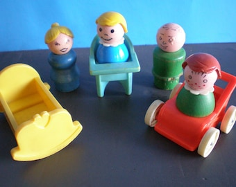 Vintage 1970's Children's Toy - Fisher Pice Little People - Nursery
