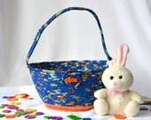 Blue Easter Basket, Handmade Easter Bucket, Lego Storage, Royal Blue Easter Egg Hunt Bucket, Boy Keepsake Easter Basket