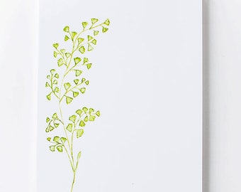 Stationery Notepad | Medium Illustrated Notepad | Maidenhair Fern | Botanical Stationery