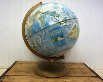 "Vintage 12"" Diameter Rand McNally World Portrait Globe"