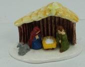 Vintage Original Department 56 Snow Village Outdoor Nativity Scene Original Box Retired Collectible Village Christmas Holiday Winter Decor