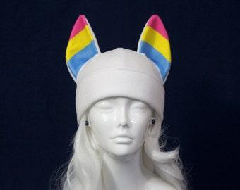 Pansexual Wolf Hat LGBT+ Pride Flag