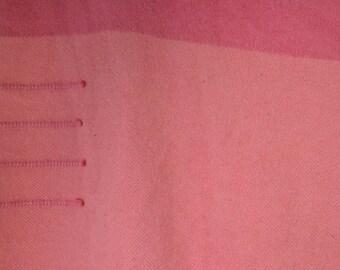 Hudson Bay Point Blanket 1950s 4 Point Color Rose Large Pink Wool Blanket