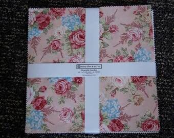 Signature Quilt, Peaceful Garden, Custom Wedding Quilt, Baby Shower, Hand Quilted