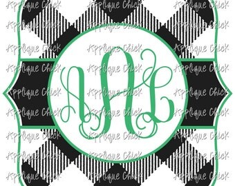 Buffalo Plaid SVG for Monogram