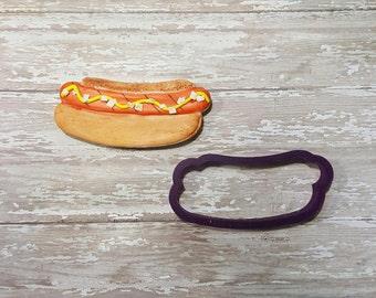 Hot Dog in a Bun Cookie Cutter or Fondant Cutter and Clay Cutter