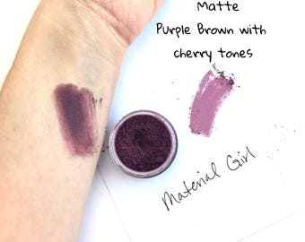 Material Girl Matte Purple Eyeshadow - Mineral Matte Eyeshadow Eye Makeup - Berry Red Eyeshadow