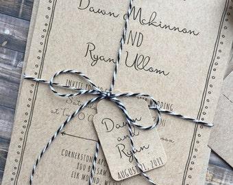 Rustic Wedding Invitation, Whimsical Wedding Invitation, Shabby Chic Wedding Invitation, Barn Wedding Invitation, Country Wedding