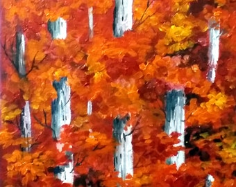 Autumn Forest - Acrylic on Canvas