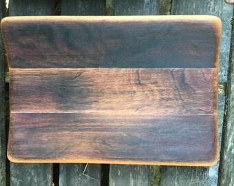medium tray from reclaimed wine barrel staves