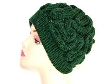 SALE- Brain Hat, Brain beanie,green thinking cap, brain cap,march for science hat, brain beanie,green hat,stand up for science sale,green