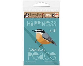 """Red Breasted Nuthatch - Magnet 3.56"""" x 4.75"""""""