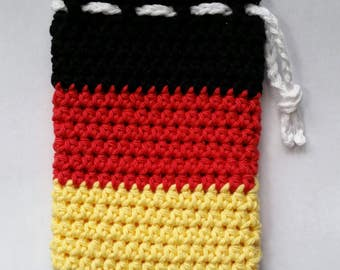 Mickey Mouse Color Block Crocheted Drawstring Pouch - Ready to Ship