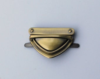 Bag Lock TRIANGULAR Medium - Brass