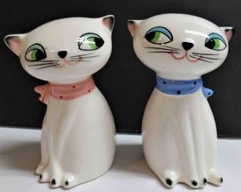 Vintage Holt Howard salt & pepper shakers cuddle kittens cats cat 1950's