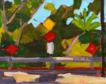 No Parking- San Diego California Landscape Painting
