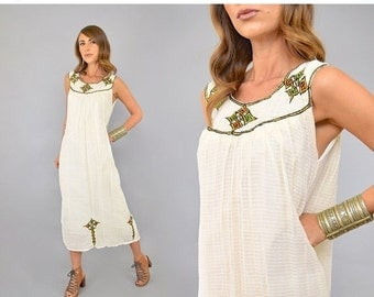 FEBRUARY SALE 70's Moroccan GAUZE Dress