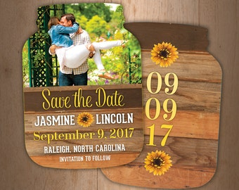 sunflower save the dates