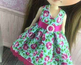 Blythe Party Dress - Hot Pink and Green