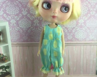 Blythe Romper - Mint Popsicles and Icecreams