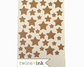 Twine + Ink Studio Calico Cork Star Stickers