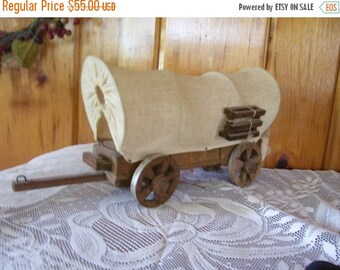 SaLe Covered Wood Wagon Handmade Folk Art Rare Primitive Americana Home Decor