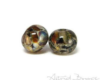 Faerie River artisan art glass beads -  Faerie Garden Seats  - Makes a Wonderful Addition to Faerie Clothing -  Art Jewelry and for crafting