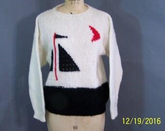 Vintage Cashmere White 1980's Sweater