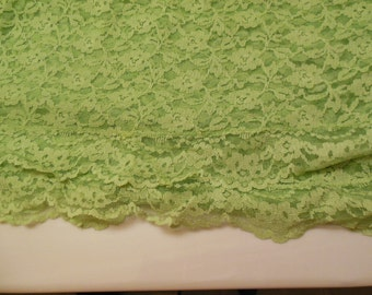 Vintage Lime Green Lace Tablecloth