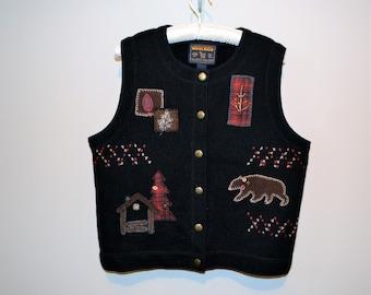 Vintage Woolrich Rustic Wool Vest